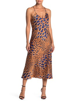 Crisscross Back Leopard Midi Dress by Love Stitch