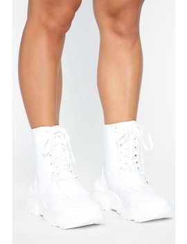 Space Apart Sneakers   White by Fashion Nova