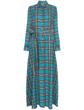 Valerie Check Maxi Dress by Evi Grintela