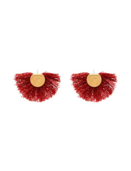 Wool Fan Earrings by Katerina Makriyianni