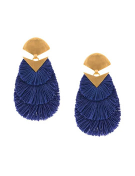 Fringed Oversized Earrings by Katerina Makriyianni