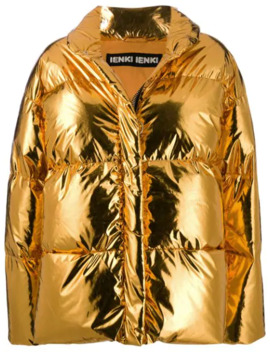 Metallic Puffer Jacket by Ienki Ienki