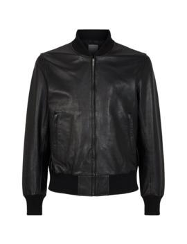 Leather Bomber Jacket by Sandro