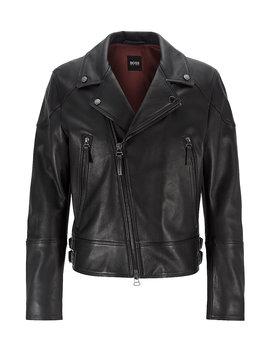 Short Length Biker Jacket In Nappa Leather Short Length Biker Jacket In Nappa Leather by Boss