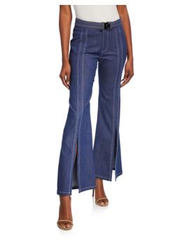 Claremont Denim Slit Front Pants by Alexis