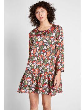 Floral Fields Long Sleeve Dress by Compania Fantastica