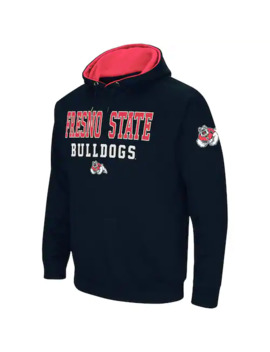 Men's Colosseum Navy Fresno State Bulldogs Performance Pullover Hoodie by Colosseum