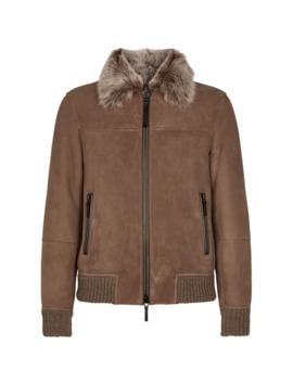 Suede Shearling Jacket by Emporio Armani