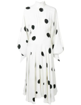 Dot Print High Neck Dress by Christopher Kane