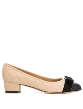 Quilted Two Tone Pumps by Salvatore Ferragamo