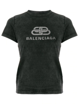 تيشيرت بتطريز شعار الماركة by Balenciaga