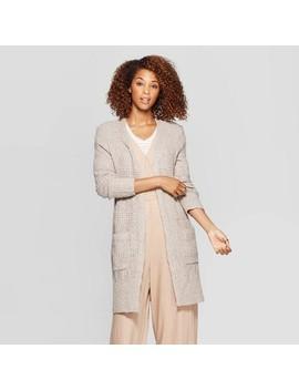 Women's Long Sleeve Open Neck Cardigan   Universal Thread™ by Universal Thread