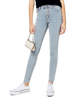 Jamie Button Fly High Waist Ankle Skinny Jeans by Topshop