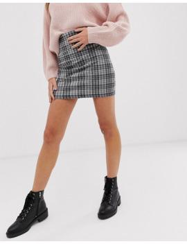 Minifalda De Tubo A Cuadros De New Look by New Look