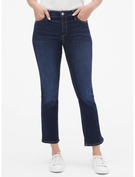 Mid Rise Crop Kick Jeans by Gap