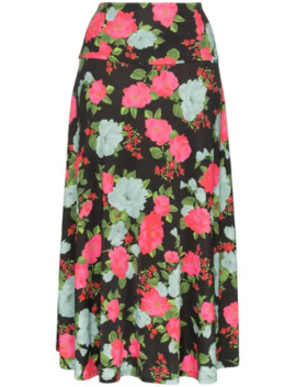 Elvin Floral Print Midi Skirt by Erdem