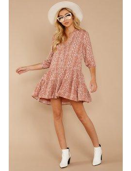 Just Comes Naturally Rust Orange Snake Print Dress by Skylar Madison