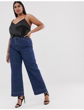 Vero Moda Curve   Jeans A Vita Alta Con Fondo Ampio by Vero Moda