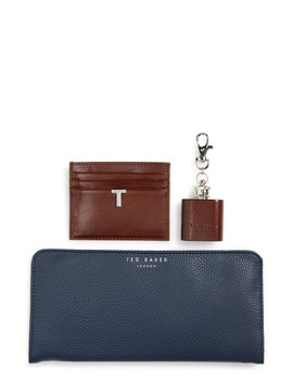 Hipp Card Case, Coin Tray & Hip Flask Set by Ted Baker London