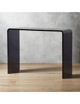 "Peekaboo 38"" Smoke Acrylic Console Table by Crate&Barrel"