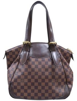 Verona Mm Damier Ebene Brown Canvas Shoulder Bag by Louis Vuitton