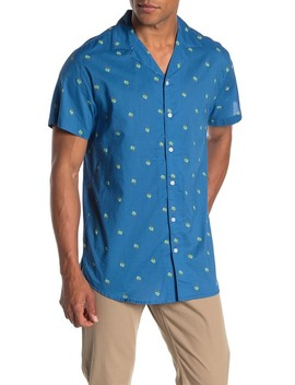 Tommy Palm Print Regular Fit Shirt by Trunks Surf And Swim Co.