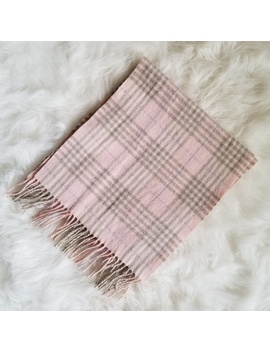 Pink Plaid Cashmere Scarf by Berkley Cashmere