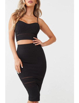 Cami Crop Top & Pencil Skirt Set by Forever 21