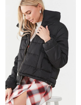 Toggle Drawstring Puffer Jacket by Forever 21
