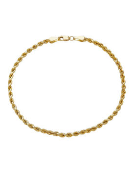 14 K Yellow Gold 3mm Rope Chain Bracelet by Fine Jewelry