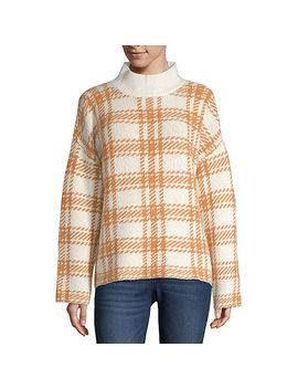 A.N.A Womens Mock Neck Long Sleeve Pullover Sweater by A.N.A