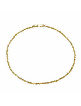 14 K Yellow Gold 2.5mm Rope Chain Bracelet by Fine Jewelry