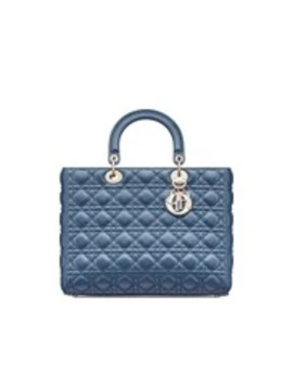 """Large """"Lady Dior"""" Lambskin Bag by Dior"""