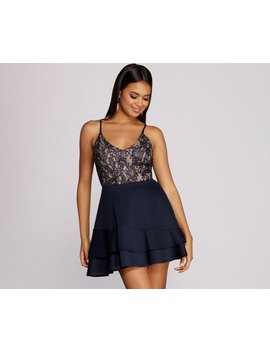 Sami Sequin And Lace Party Dress by Windsor