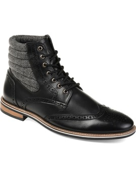 Apollo Quilted Wingtip Boot by Thomas & Vine