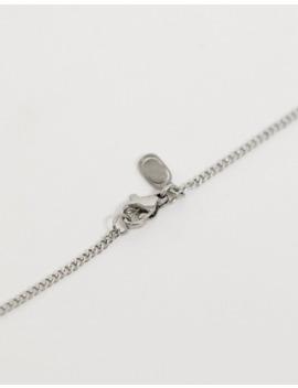 Craftd – Silberfarbene Halskette Aus Edelstahl Mit Charakteristischem Anhänger by Asos