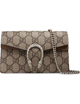 Super Mini Dionysus Gg Supreme Canvas & Suede Shoulder Bag by Gucci