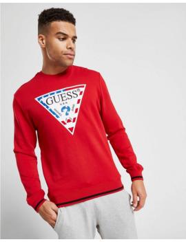 Guess Usa Core Triangle Logo Crew Sweatshirt by Guess