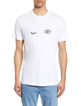 Wink Embroidered T Shirt by French Connection