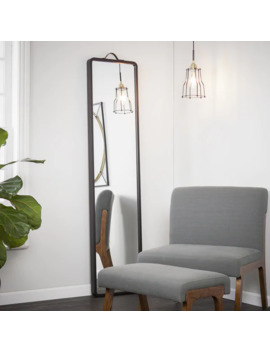 Holly & Martin Lawson Floor Leaning Full Length Mirror   Matte Black by Holly & Martin
