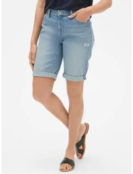 "Mid Rise 9\"" Denim Bermuda Shorts by Gap"