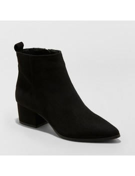 Women's Valerie Microsude City Ankle Fashion Boots   A New Day™ by A New Day