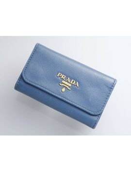 H5646 M Authentic Prada Saffiano Genuine Leather 6 Ring Key Case by Prada
