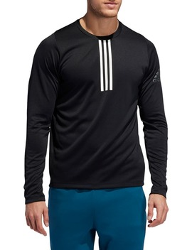 3 Stripe Climalite® Long Sleeve Performance T Shirt by Adidas