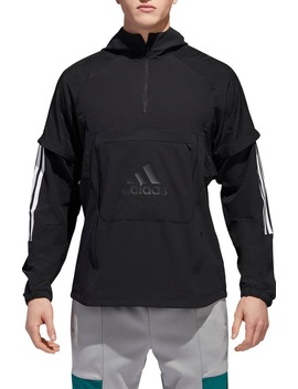 Id Hooded Quarter Zip Jacket by Adidas