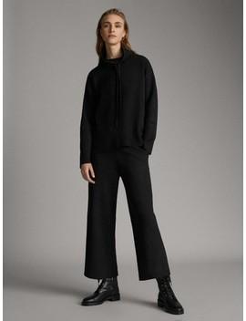 ÚpletovÉ Kalhoty Culottes Fit by Massimo Dutti