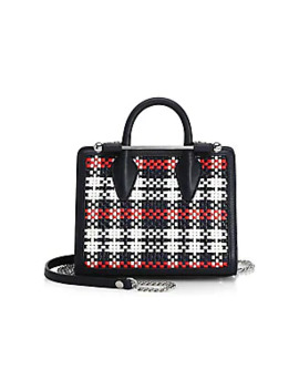 Nano Plaid Leather Tote by Strathberry