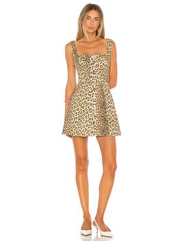 Millie Denim Dress In Leopard Denim by Capulet
