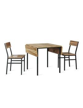 Edmont 3 Piece Drop Leaf Dining Set by Allmodern
