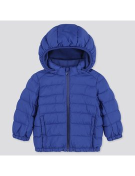 Babies Toddler Light Warm Padded Hooded Parka (3) by Uniqlo